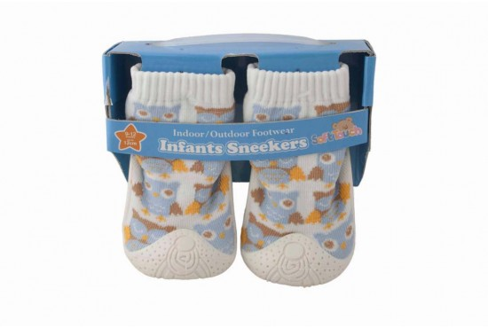 Бели Бебешки Чорапи - Обувка Бухал